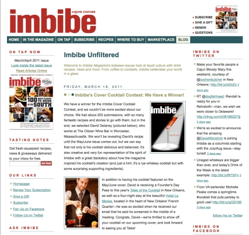 Imbibe Magazine Blog About Winner Dave Delaney